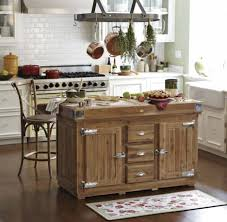 Pot Racks For Small Kitchens Kitchen Wonderful Small Kitchen Island Designs With Brown Rustic