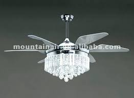 black crystal chandelier ceiling fan and a fancy fans with crystals light