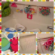 Bathroom Toys Storage More Bath Toy Storage Use Utility Wire Baskets Designed To Hang