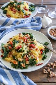 Spaghetti Squash Nutritional Values Roasted Garlic And Kale Spaghetti Squash