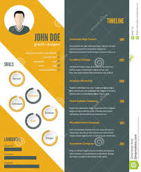 New Modern Resume Cv Template With Photo Stock Vector Image