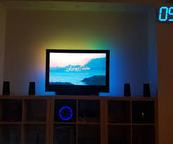 Ambient Light Behind Tv Old Tv Ambient Led Light With Kodi Tv Lighting Home