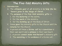 the five fold ministry gifts introduction
