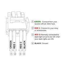 amazon com mictuning led push switch connector wire kit for amazon com mictuning led push switch connector wire kit for toyota fog lights symbol white automotive