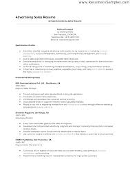 Resume Examples Sales Advertising Sample Resume Sales Executive Bank
