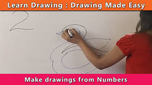 how to draw using numbers learn drawing for kids learn drawing step by step for children you