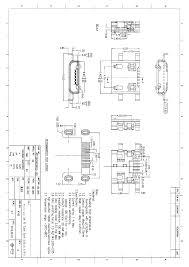 Micro 5p female sink board0 9 four legged board datasheet
