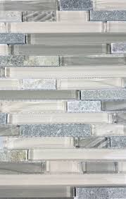 new era shell gray linear glass and stone mosaic tile sample