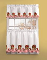 Red Curtains For Kitchen Cherry Kitchen Curtains Red And White Cliff Kitchen