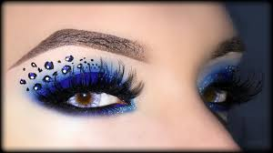 y blue smoky eyes with leopard print makeup tutorial you