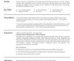 Sample Resume For Customer Service Representative Telecommunications Resume Template Sample For Customer Service Support Executive 19