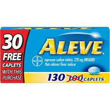 Aleve Pain Reliever Fever Reducer Naproxen Sodium Caplets