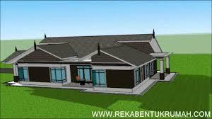 Design Rumah Moden Pelan Rumah D1 21 Pelan Rumah Banglo Setingkat 6 Bilik 4