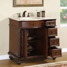 com silkroad exclusive marble top single left sink bathroom vanity with furniture cabinet 36 medium wood home kitchen