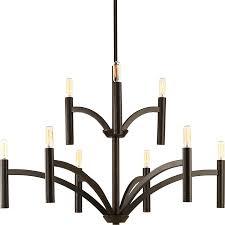 progress lighting dr 9 light antique bronze vintage candle chandelier