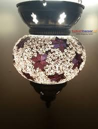 turkish ottoman style authentic handmade mosaic glass lantern lamb candle holder canada otantik el yapimi
