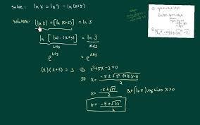 solving natural log equations