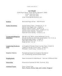 Teen Sample Resume Stunning First Resume Samples First Resume Samples For Teenager Job Teenage