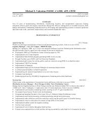 michael salvatore valentino cpim resume 2012 - Warehouse Packer Resume