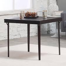 square premium wood folding card table hayneedle