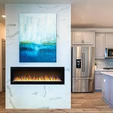napoleon alluravision 50 inch slimline electric fireplace nefl50chs wall mount electric fireplace