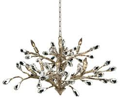 chandeliers brushed gold chandelier modern branch crystal drop dining room