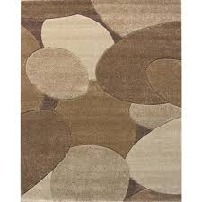 hand carved brown riverbed area rug