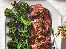 Swanson® beef stock, fresh herbs and a bit of cream combine to make a sophisticated pan sauce for quality beef tenderloin steaks. Beef Tenderloin With Madeira Dijon Sauce Recipe Cooking Light