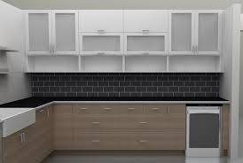 Small Picture Kitchen Contemporary Kitchen Cabinet With Frosted Glass And