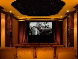 home theater step lighting. acoustic ideas home theater traditional with star lighting trey ceiling screening room step