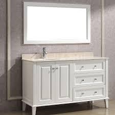 Art Bathe Lily 55 White Bathroom Vanity Solid hardwood vanity