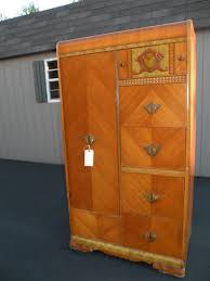 antique furniture armoire. antique art deco waterfall armoire wardrobe closet 375 look familiar furniture