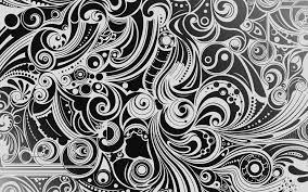 white and black wave digital wallpaper ...