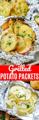 grilled potatoes in foil potato