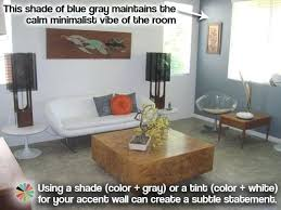 how to choose wall color for living room retro minimalist living room with blue gray accent