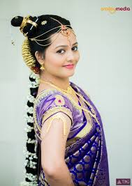south indian bridal makeup look image