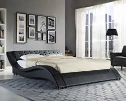 ... Large size of Double king size black white bed frame memory foam  mattress king size bed ...