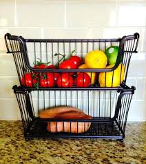 countertop fruit basket best two tier fruit basket images on of with regard to for kitchen