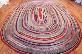beautiful early american braided oval rug 1271 whole nazmiyal