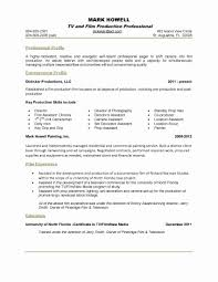 Resume Content Sample Fresh E Page Resumes Examples Examples Of