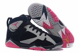 air jordan shoes for girls grey. air jordan 7 gs fuchsia flash sport pink-grey girls shoes for grey