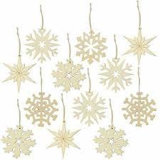 12x Holz Christbaumschmuck Weihnachtsbaumschmuck Sterne