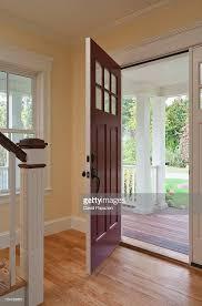 open front door. Open Front Door Of Home Interior : Stock Photo R