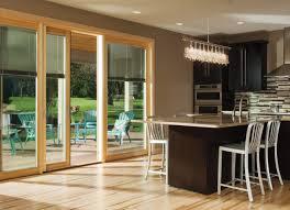 pella designer sliding patio doors with blinds