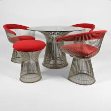 Small Warren Platner dining set - Warren Platner - Knoll