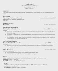 Current College Student Resume Example For Objective A Undergraduate Fascinating Current College Student Resume