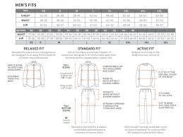 Size Charts Royal Robbins