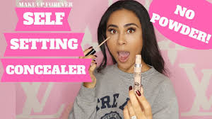 makeup forever self setting concealer review glowy skin
