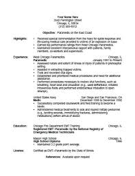 Emt Resume Custom Emt Resume Template Emt Resume Template Rapid Writer Free