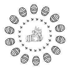 Kleurplaat Mandala Pasen 3